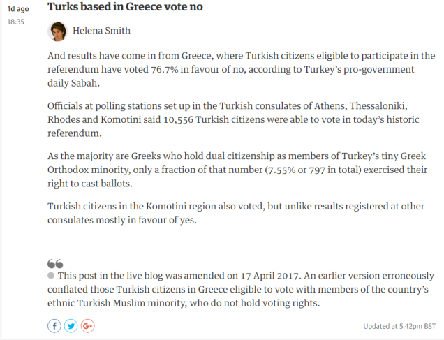 guardian corrected news turkish referendum 17-4-2017