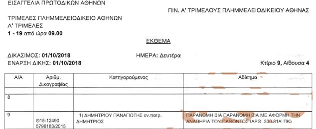 pinakio a trimeles diki via kata anapirou 1-10-2018