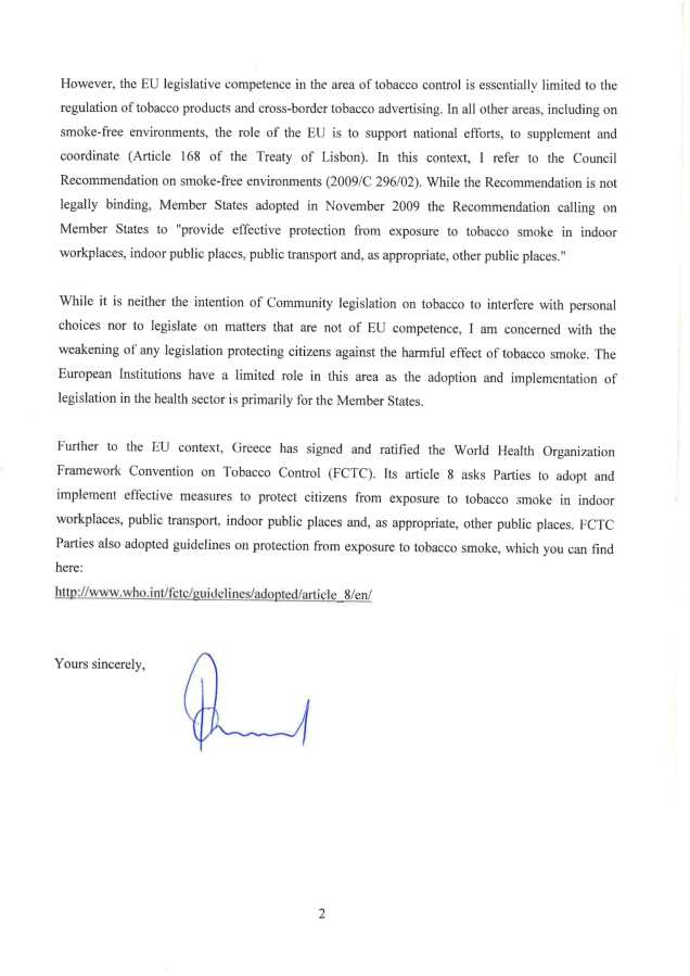 reply from eu commissioner on smoking in greece 26-2-2019-2