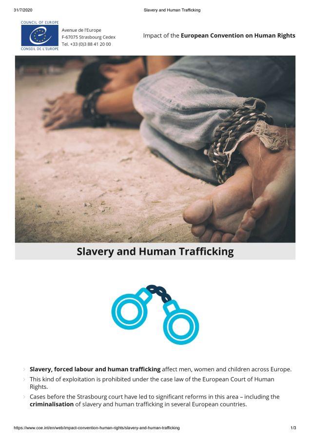 CoE Slavery and Human Trafficking_1